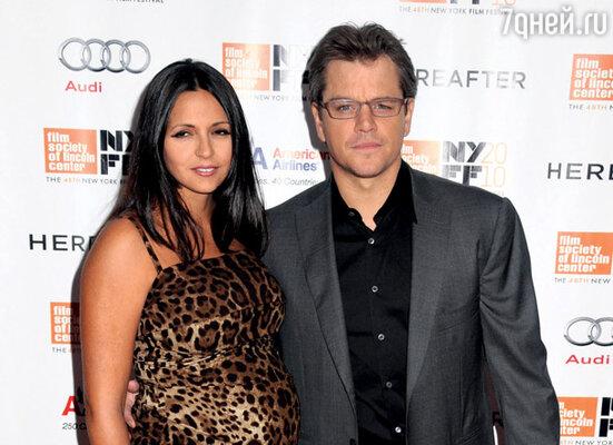Мэтт Дэймон и его жена Лучана