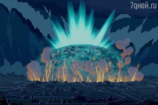 Кадр из мультфильма «Атлантида: Затерянный мир»