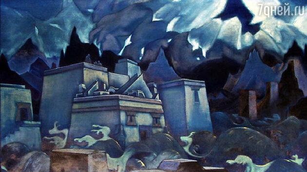 Картина Николая Рериха «Гибель Атлантиды»