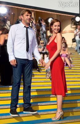 Владимир Вдовиченков и Ольга Филиппова на фестивале «Кинотавр»