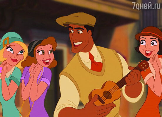 Кадр мультфильма «Принцесса и лягушка»