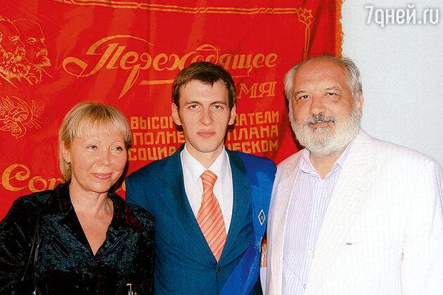 Родители и брат Анастасии Меськовой