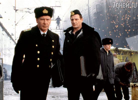 Харрисон Форд и Лиэм Нисон в фильме «К-19». 2002 г.
