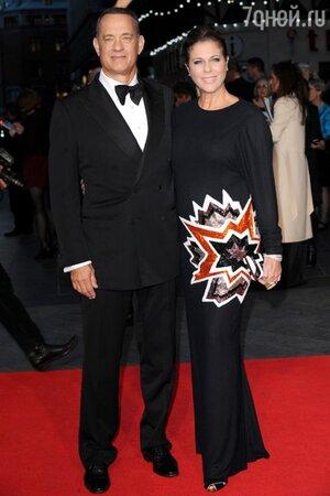 Том Хэнкс и Рита Уилсон, 2013
