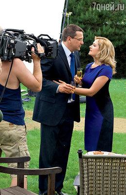 Мария Порошина и Ярослав Бойко во время съемок заключительной сцены девятого сезона «Всегда говори «всегда»