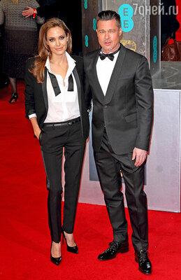 Анджелина Джоли и Брэд Питт стали звездами церемонии BAFTA