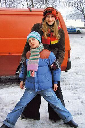 Юлия Ауг с дочерью