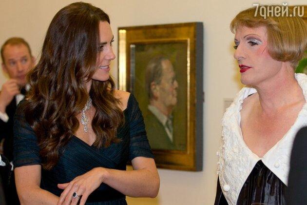 Кейт Миддлтон в Национальной портретной галерее в Лондоне