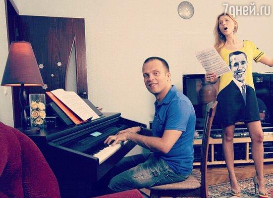 DJ Грув с женой Сашей
