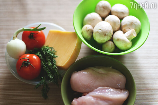 Ингредиенты для курицы по-французски