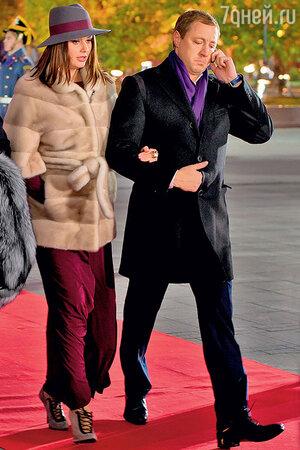 Оксана Федорова с мужем Андреем.