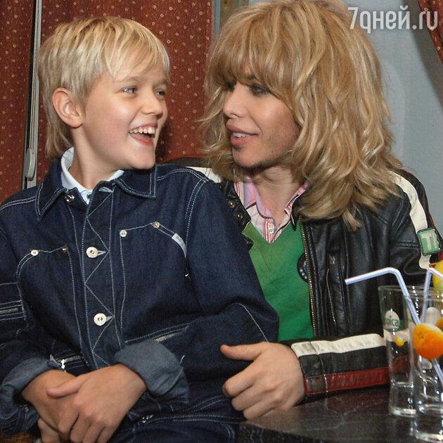 Сергей Зверев с сыном Сергеем, 2006 г.