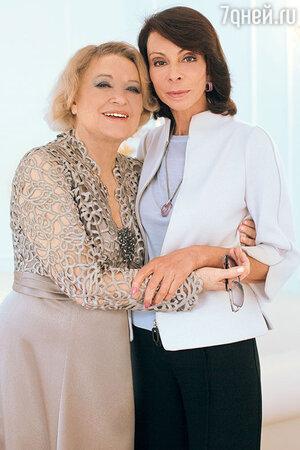 Валентина Талызина с подругой — дизайнером Лизой Романюк. 2016 г.