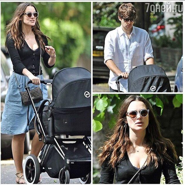 Кира Найтли с мужем и ребенком