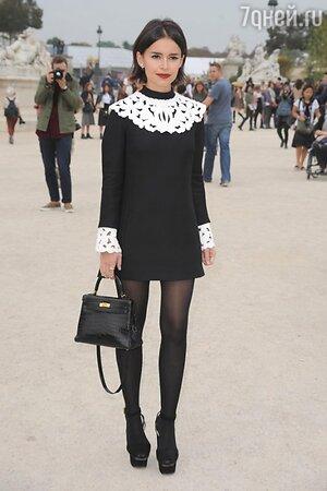 Мирослава Дума в платье от Valentino на показе Viktor & Rolf