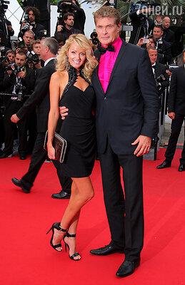 Хейли Робертс и Дэвид Хасселхофф на Каннском кинофестивале-2013