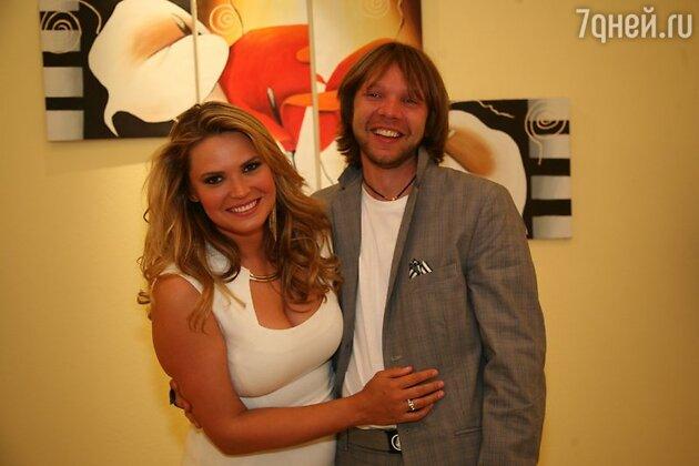 Катя Жаркова с мужем