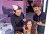 Екатерина Климова с дочерью, Юрием Столяровым, официальным визажистом Maybelline New York в России, и Евгением Седым, экспертом-креатором Garnier