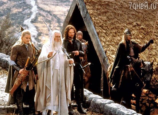 С Орландо Блумом и Вигго Мортенсеном в фильме «Властелин колец: Возвращение короля». 2003 г.