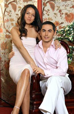 Тимур Родригез с женой  Анной
