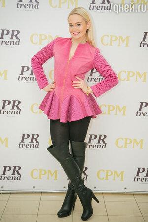 Анастасия Крайнова  на открытии выставки моды Collection Premiere Moscow