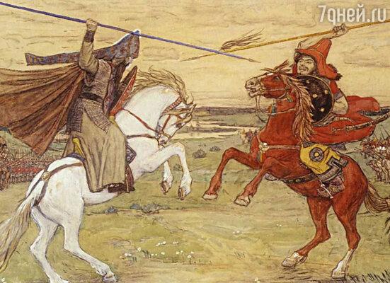Васнецов В. М. «Поединок Пересвета с Челубеем». 1914 год