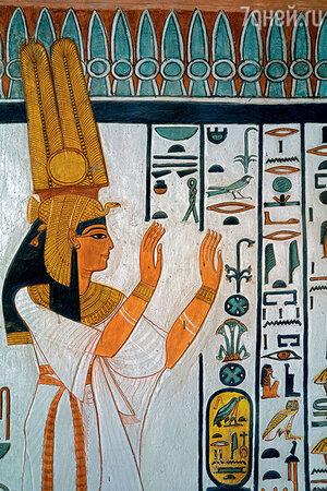 Египетская царица Нефертари, великая супруга фараона Рамсеса II