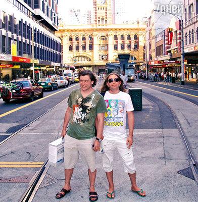 Лева и Шура «БИ-2» в центре Мельбурна