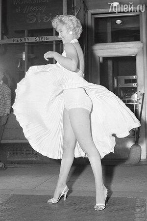 Знаменитые белые панталончики Мэрилин Монро. 1954 г.