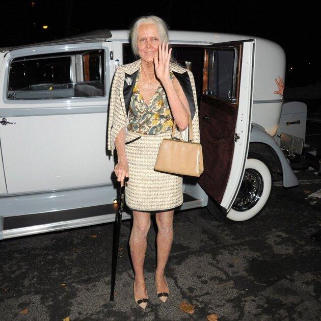 Хайди Клум в образе «старой леди»