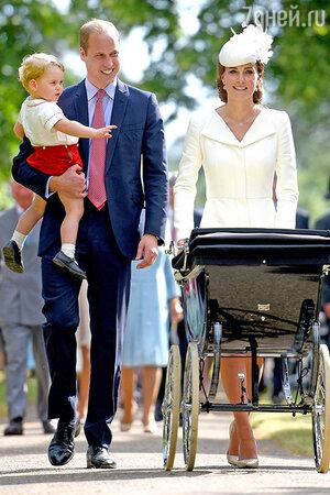 Принц Уильям, Кейт Миддлтон, Принц Джордж и принцесса Шарлотта