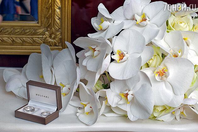 Жених и невеста выбрали обручальные кольца BVLGARI