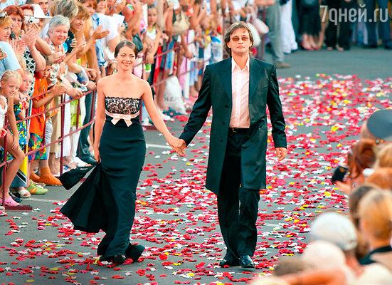 Марина Александрова с Александром Домогаровым. Открытие фестиваля «Лики любви». 2005 год