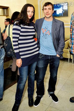 Евгений Цыганов с женой Ириной Леоновой