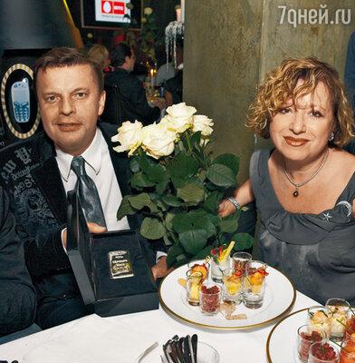 Леонид Парфенов с женой Еленой