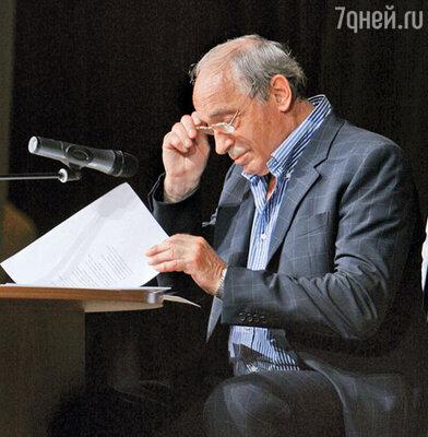 Валентин Гафт читает свою пьесу