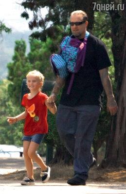Джесси Джеймс с дочерью Санни