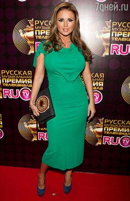 На церемонии вручения музыкальной премии телеканала RU.TV. 2011 г.