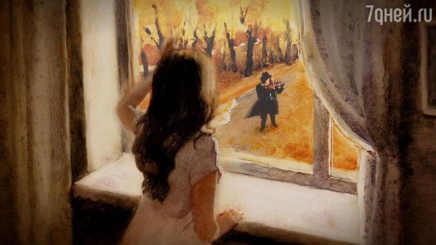 Кадр из клипа «Московская осень»