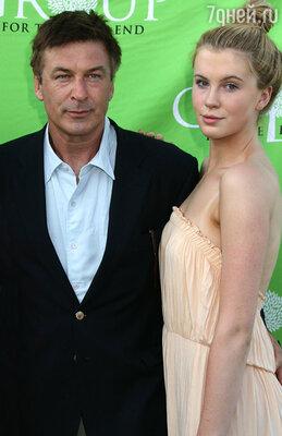 Алек Болдуин с дочерью