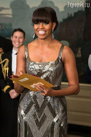 Мишель Обама на вручении премии «Oскар», 2013 год