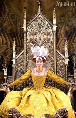 Кейт Бланшетт в роли Елизаветы I.  «Елизавета», 1998 год и  «Золотой век», 2007 год
