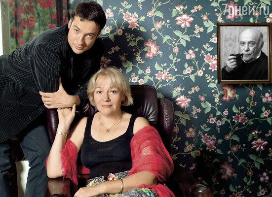 Елена Санаева с сыном