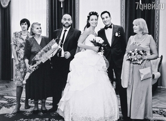 На свадьбе сына