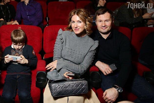 Алексей Немов с женой Галиной и сыном Дмитрием