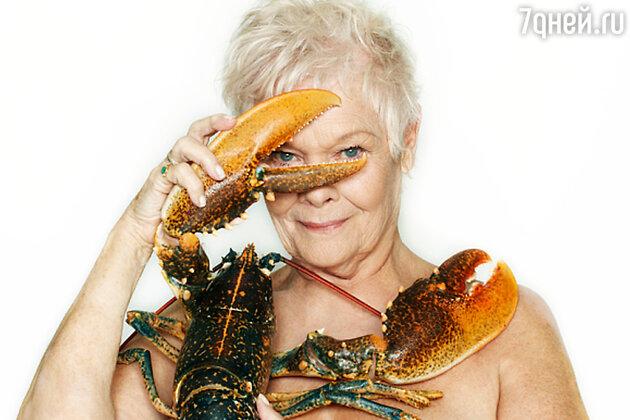 Знаменитая фотосессия Джуди Денч с лобстером