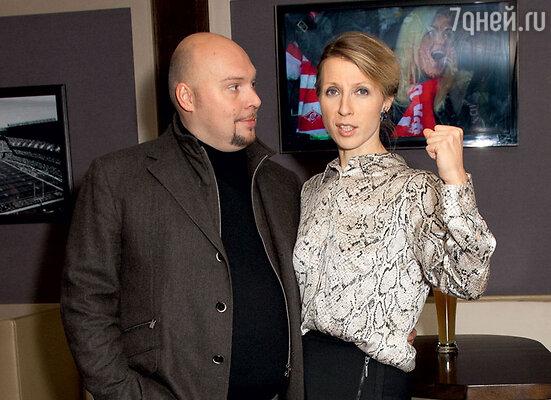 С мужем Денисом Лазаревым
