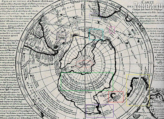 Карта XVI века, принадлежавшая турецкому адмиралу Пири Рейсу, на ней уже отображены и Гиперборея, и Антарктида