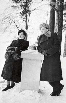 С пятой и последней женой Верой Кудрявцевой. 1954 г.