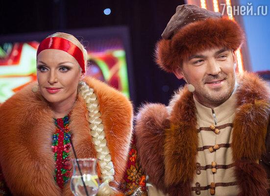 Анастасия Волочкова и  Методие Бужор.  «Две звезды», 2013 год